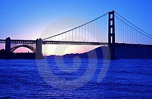 Golden Gate Bridge At Sunset Stock Images - Image: 20386944