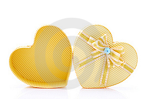 Heart Box With Ribbon Stock Photography - Image: 20387662