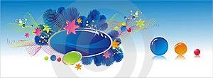 Celebratory Colour Decoration Frame Stock Images - Image: 20387694