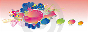 Celebratory Colour Decoration Frame Royalty Free Stock Photo - Image: 20387725