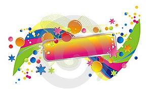 Celebratory Colour Decoration Frame Royalty Free Stock Images - Image: 20387749