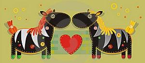 Two Zebras Stock Photo - Image: 20387900