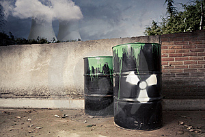 Toxic Drum Barrels Outside Nuclear Plant Stock Photo - Image: 20388100