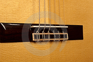 Close Up Of Classical Guitar Bridge Stock Photography - Image: 20388342