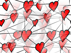 Red Love Hears Stock Image - Image: 20388881