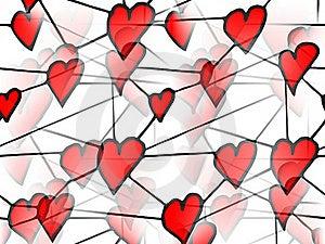 Słucha Miłości Czerwień Obraz Stock - Obraz: 20388881