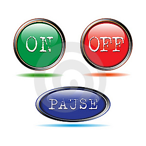Buttons Start-up, Stop Stock Photography - Image: 20389372