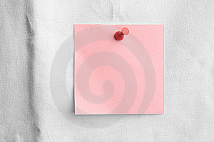 Pink Note With Red Pin Royalty Free Stock Photo - Image: 20390115