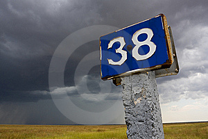 Distance Mark Royalty Free Stock Images - Image: 20390429