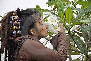 Beautiful Women Hair Dreadlock Kiss Flower Stock Image - Image: 20390581