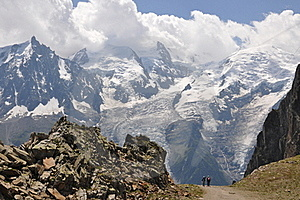Expedition Mont Blanc Stock Images - Image: 20390834