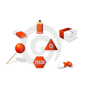 Office Icon Set Royalty Free Stock Images - Image: 20393279