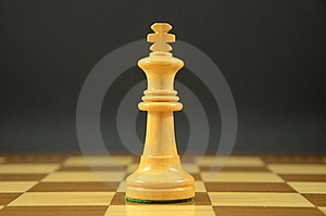 King On A Chessboard Stock Photo - Image: 20393830