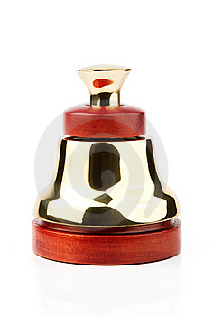 Vintage Service Bell With Path Stock Photo - Image: 20395500