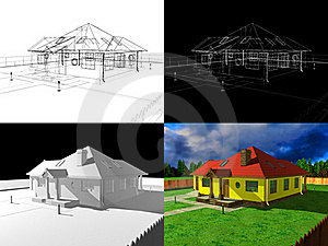 3D House Rendering, 3d Project Stock Photos - Image: 20399723