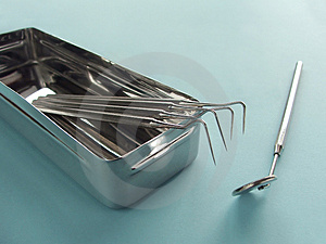 Dental instruments Royalty Free Stock Photo