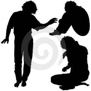 Mans Silhouettes 02 Stock Photography - Image: 2044872