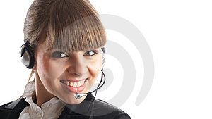 Beautiful Customer Representative Stock Photography