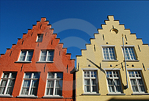 Typical Roofs Of Houses In Bruges Stock Images - Image: 20400434