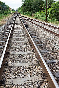 Railroad In Thailand Royalty Free Stock Photos - Image: 20402258