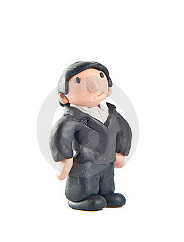 Happy Guy Made Of Clay Thinking About The Future Stock Images - Image: 20404594