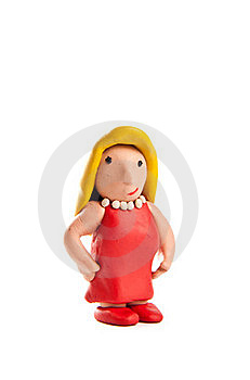Blond Girl Made Of Clay Looking At You Stock Photo - Image: 20404620