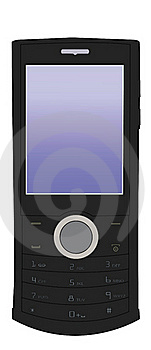 Vector Black Mobile Phone Stock Photography - Image: 20409582