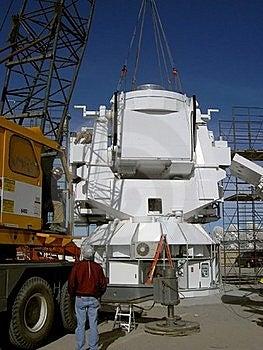 Crane Installing Observatory Base Stock Image - Image: 20412701