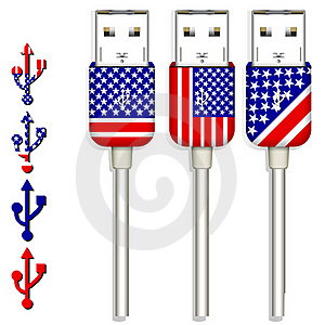 America Usb Royalty Free Stock Image - Image: 20415586