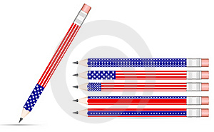 Usa Pencil Royalty Free Stock Photography - Image: 20415677