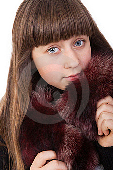 Girl In A Fur Coat Stock Images - Image: 20416174