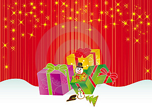 Christmas Card Gift Background  Illustration Stock Images - Image: 20416604