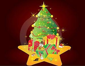 Christmas Card Gift Background  Illustration Royalty Free Stock Photography - Image: 20416627