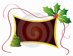 Christmas Card Frame Gift Background  Illustration Royalty Free Stock Photos - Image: 20416638