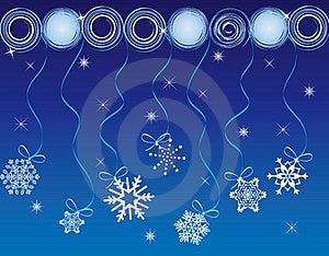 Christmas Card Snow Gift Background  Illustration Royalty Free Stock Photo - Image: 20417025