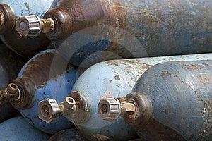 Cylinder  Oxygen  Compressed  Medical Stock Image - Image: 20417131