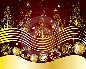 Christmas Card Frame Gift Background  Illustration Stock Photos - Image: 20417243
