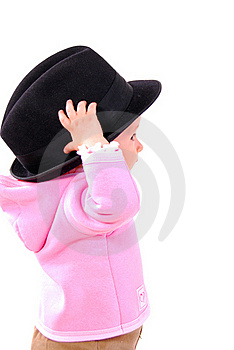 The Little Gir In The Big Hat. Royalty Free Stock Photos - Image: 20427828