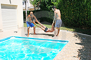People At Swimming Pool Stock Photography - Image: 20428702
