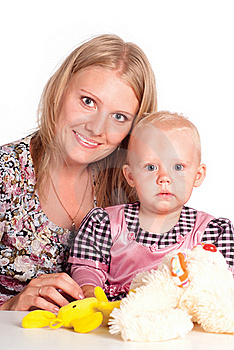 Mom With Her Daughter Royalty Free Stock Photos - Image: 20429338