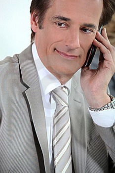 Executive On Cellphone Royalty Free Stock Photography - Image: 20430857