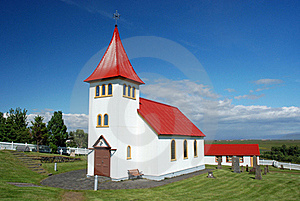 Small Icelandic Church With Cemetery Royalty Free Stock Photography - Image: 20434317