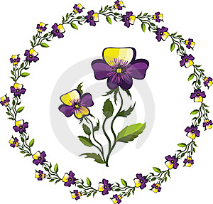 Decor With Pansies Stock Photos - Image: 20435673
