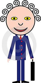 Smiling Man In A Blue Suit Royalty Free Stock Image - Image: 20436716