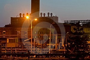 Sunset And Chemical Plant Stock Images - Image: 20437344