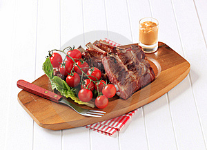 Smoked Pork Ribs Royalty Free Stock Images - Image: 20437679