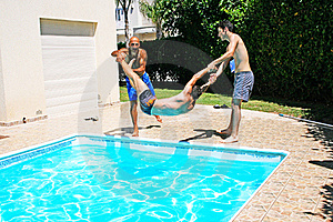 People At Swimming Pool Royalty Free Stock Photo - Image: 20439285