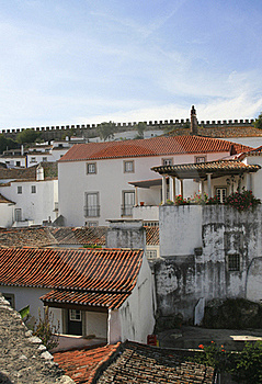 Small Historical European Town Obidos Royalty Free Stock Photo - Image: 20439415