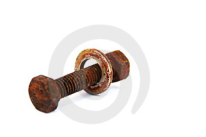 Rusty Nut And Bolt Stock Image - Image: 20439531