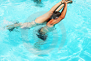 Couple In Swimming Pool Stock Images - Image: 20439624